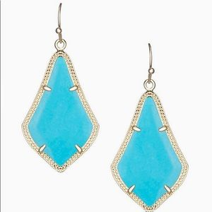 Kendra Scott Alex earring gold and turquoise